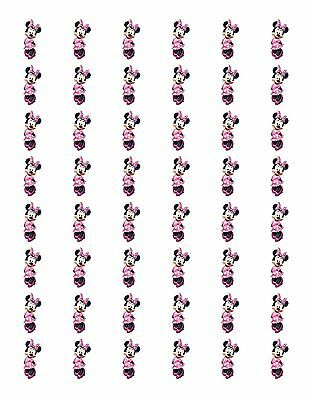 """48 MINNIE MOUSE RED DRESS ENVELOPE SEALS LABELS STICKERS 1.2/"""" ROUND"""