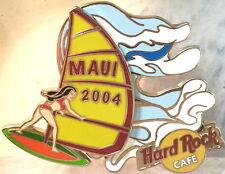 Hard Rock Cafe MAUI 2004 RODEO PIN WINDSURFER GIRL PIN Pivots HRC Catalog #23760