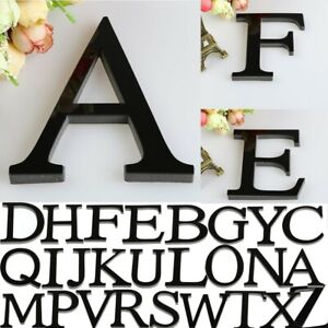 26 Letters DIY 3D Mirror Acrylic Wall Sticker Decal Home Decor Wall Art Mural UK