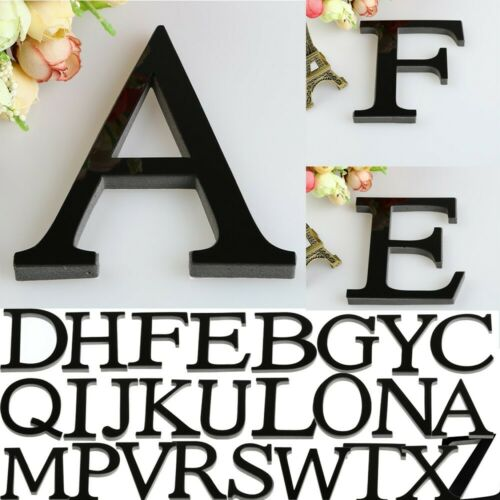 26Letters DIY 3D Mirror Acrylic Wall Sticker Decals Home Decor Wall Art Mural 16