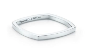 bd3b5a75147f5 Details about NIB Tiffany & Co Frank Gehry Sterling Silver Torque Micro  Ring Band Size 4