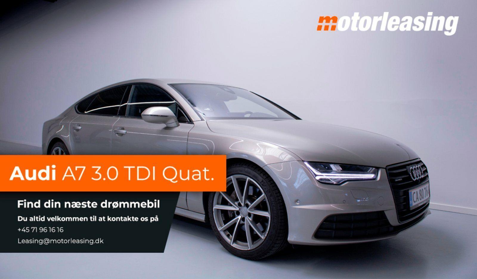 Audi A7 3,0 TDi 272 SB quattro S-tr. 5d - 4.634 kr.
