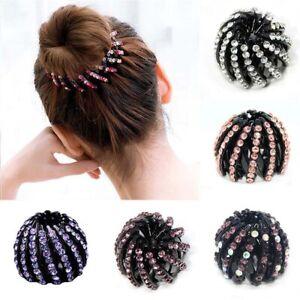 Women-039-s-New-Bird-Nest-Crystal-Ponytail-Holder-Hair-Clips-Hair-Claw-Diamond-Drill