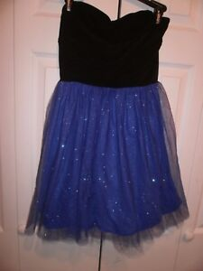 bf8dfb684 Ruby Rox Junior's Illusion SWEET HEART top sparkle Blue violet Dress ...