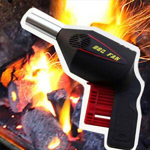 BBQ-Flame-Coal-Grill-Fan-Gun-Bellows-Barbecue-Fire-Air-Blower-Outdoor-Camping-YT