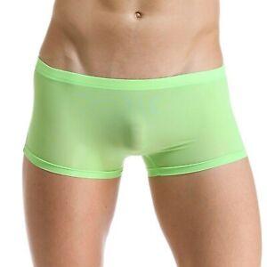 MCT Hipster Pants Eis Seide Slip Shorts Nahtlos TRANSPARENT BLAU in S bis 2XL
