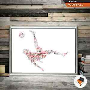 Image Is Loading FOOTBALL WORD ART GREAT CHRISTMAS OR BIRTHDAY GIFT