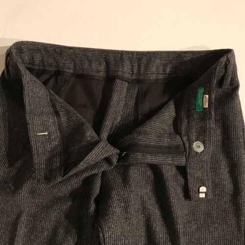 Benetton Pantalone grigi Of 2 di United a in lana vergine Colors pieghe anteriori qafwTaP