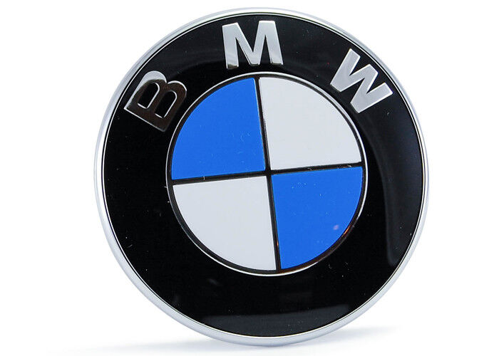 BMW OEM 51148132375 Bonnet Badge 82mm Blue 5 Series Models