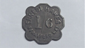 Market Token STRATFORD London Ernest Hawes One Shilling & Sixpence 1/6d by Neal