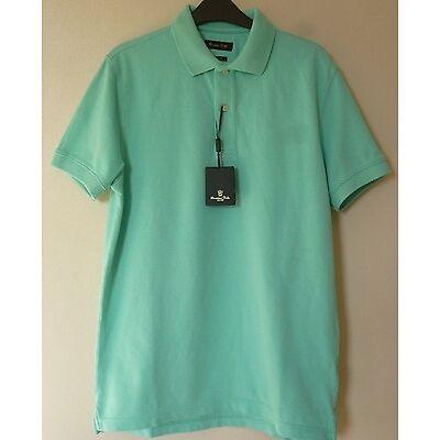 Massimo Dutti Mens Short Sleeve Polo Shirt Top Medium BNWT* Mint Uk Freepost