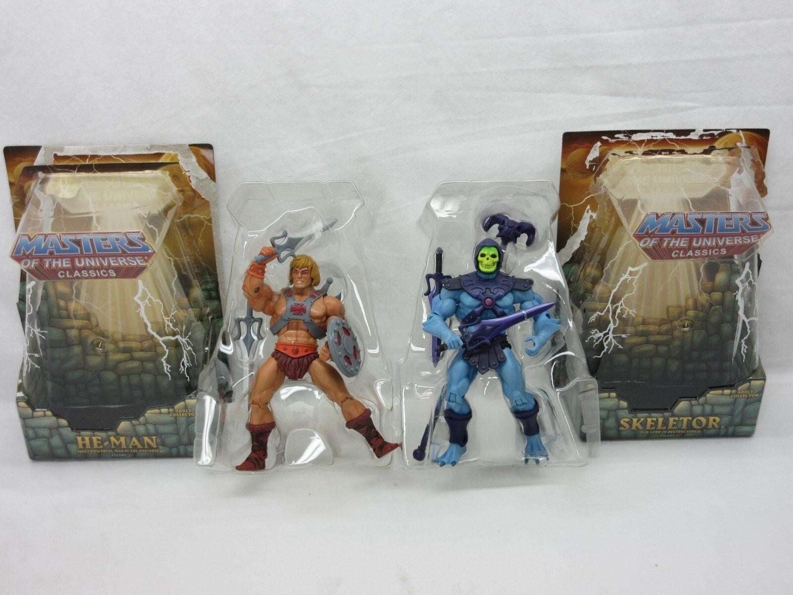 Motuc, Amos del universo, He-man & Skeletor, menta, amos del universo clásicos, Completa, MIB