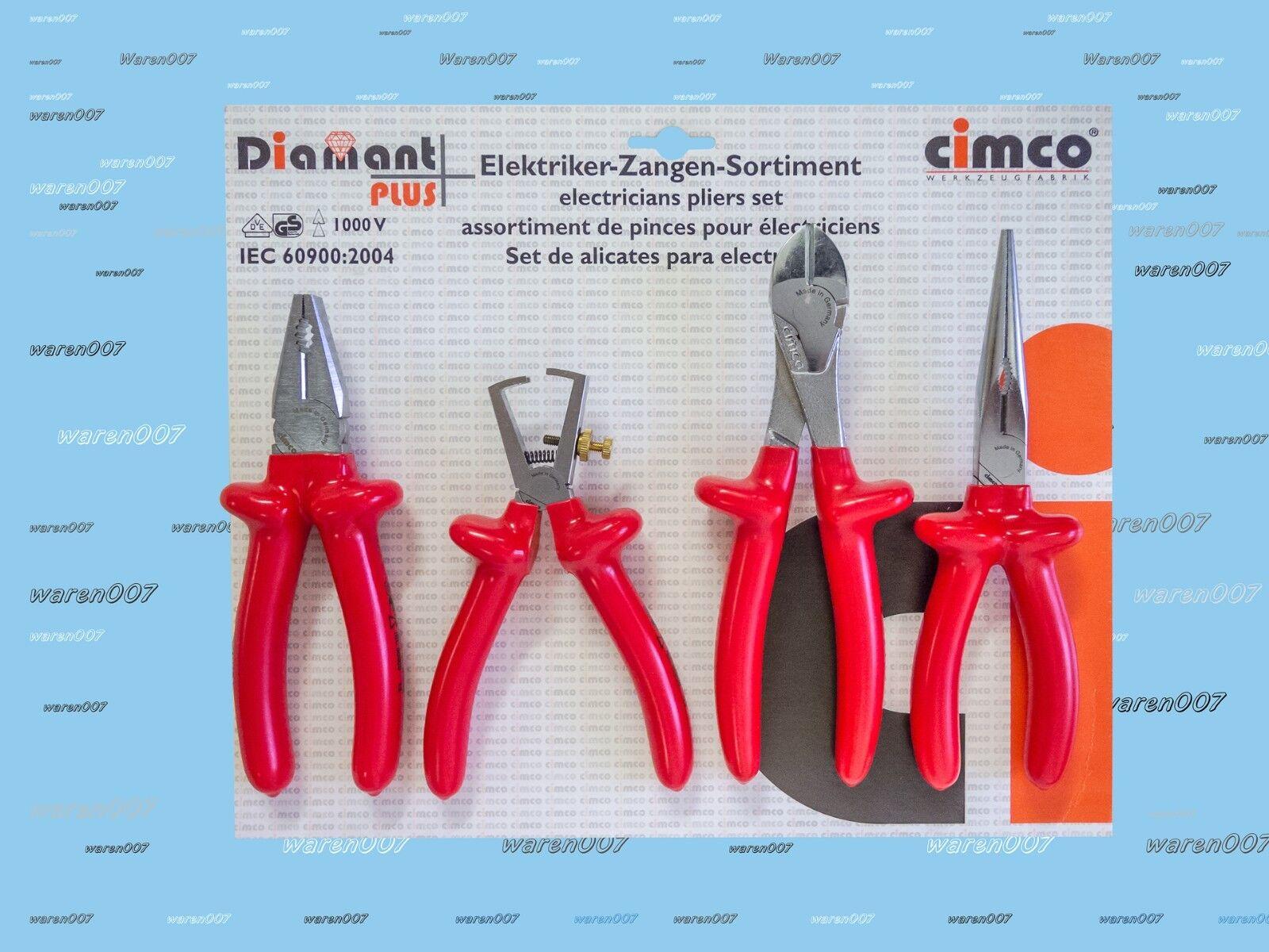1000 V Zangen - Set Seitenschneider Telefonzange ... Zange 108002 Fa. Cimco NEU
