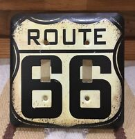 Route 66 Light Switch Cover Us Road Highway Bar Wall Home Decor Garage Man Cave