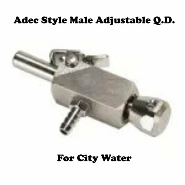 Adec Style Male Adjustable Quick-Disconnect for City Water (DCI #9299)