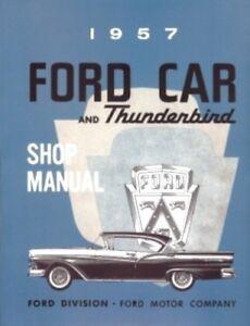 ford 1957 car thunderbird shop manual 57 tbird ebay rh ebay com 1957 ford thunderbird owners manual 1957 ford thunderbird owners manual