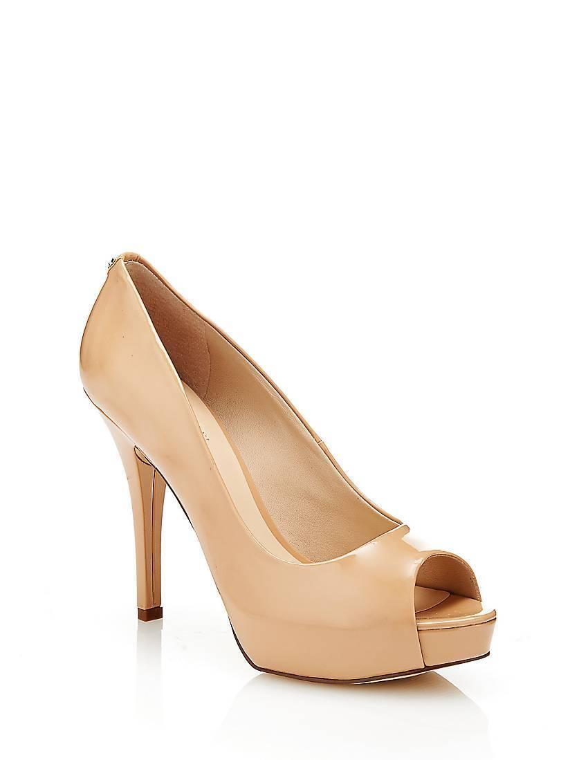 Guess Helena Schuhe Open Toe Patent Court Schuhe Helena Nude UK 5 EU 38 LN13 11 b79347