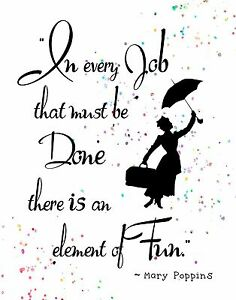 Image Is Loading Watercolor Pop Art Print MARY POPPINS Quote Every