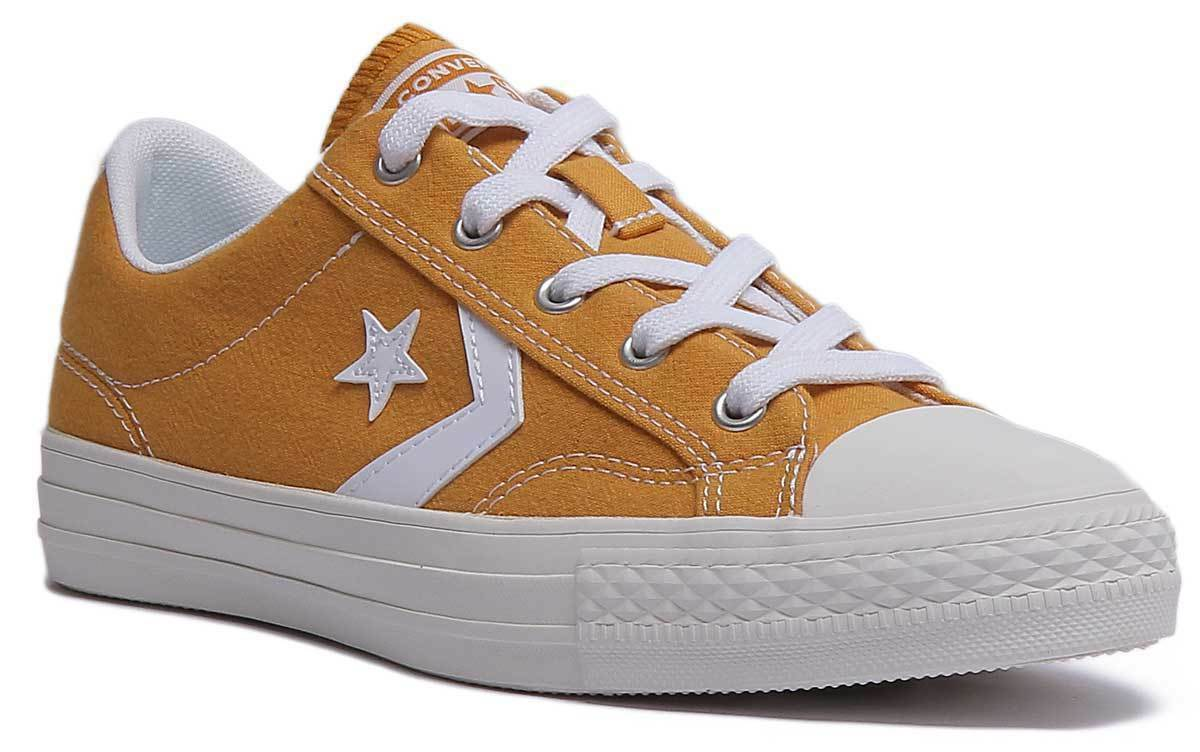 Converse Star Player Ox Donna Tela Senape Bianco scarpe scarpe scarpe da ginnastica 6c8ac9