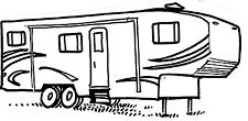 Unmounted Rubber Stamps, RV Stamps, Travel, Vacation, 5th Wheel Camper Trailer