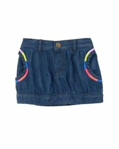 Skirts Baby & Toddler Clothing Popular Brand Nwt 2t Gymboree Color Me Happy Rainbow Embroidered Jean Bubble Skirt Pockets Smoothing Circulation And Stopping Pains
