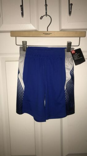 NWT Boys Under Armour Athletic Shorts 6 MSRP $25 Ultra Blue
