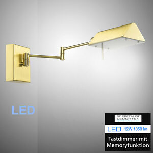led wandleuchte gelenkarm leseleuchte 120520 sorpetaler berlin wandlampe dimmbar ebay. Black Bedroom Furniture Sets. Home Design Ideas