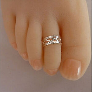 2016-Celebrity-Fashion-Simple-Sliver-Plated-Adjustable-Toe-Ring-Foot-Jewelry-SP