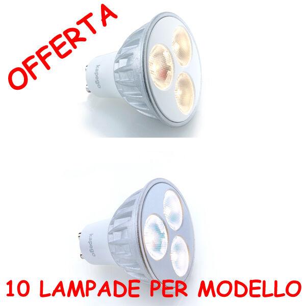 KIT 10 LAMPADE LED 3,6W 38° GU10 230Vac SOS ALOGENA ALOGENA ALOGENA 35W LUCE CALDA FrossoDA NEUTRA 639c81