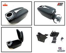Armrest BLACK for VW BORA CADDY JETTA JETTA KUPO VENTO + FRONT & BACK CUP HOLDER