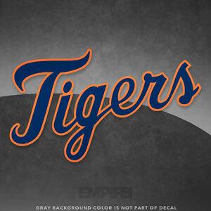 d6e5dfef1 Detroit Tigers Jersey Logo Vinyl Decal Sticker MLB - 4