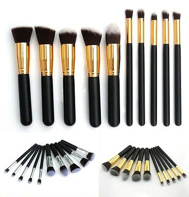 10 Pcs Professional Foundation Makeup Brush Set  Eyeshadow Brush Cosmetic Brush