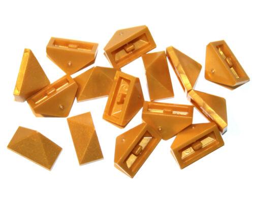15x LEGO® First-// Schrägstein dreifach 45° 1x2 3048 NEU perlgold pearl gold