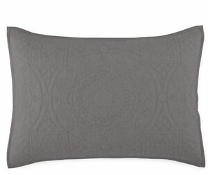 Jcp-Home-Expressions-Emma-Standard-Quilted-Pillow-Sham-20-034-x26-034-Warsaw-Grey
