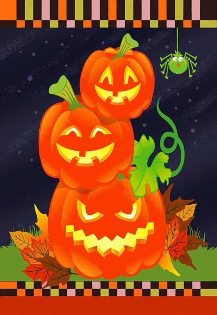 Cute Jack O Lantern Halloween Garden Flag Double Sided 12 X 18 For Sale Online