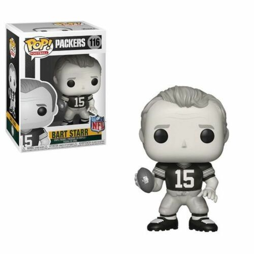 NFL Legends Bart Starr Noir /& Blanc FUNKO POP Vinyl Figure Green Bay Packers
