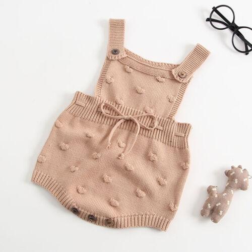 Winter Infant Newborn Baby Knit Romper Bodysuit Overalls Crochet Clothes Comfy