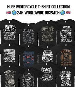 Motorcycle-T-Shirt-Indian-Motorbike-Cafe-Racer-Garage-Biker-Dakar-Race-Skull