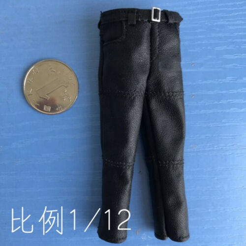 "1:12th Accessory Leather Pants Model for 6/"" TBLeagure SHF Body Doll"