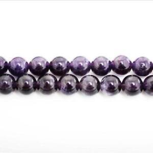 Strand-45-Purple-Amethyst-8mm-Plain-Round-Beads-GS0384-2