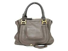 Authentic Chloe Dark Brown Medium Marcie Leather Handbag w/ Guarantee