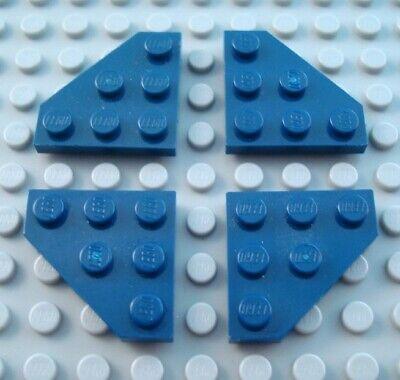 LEGO Lot of 4 Black 3x3 Cut Corner Plates