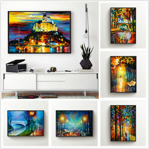 Colorful-Landscape-Printed-Canvas-Wall-Art-Painting-Poster-Home-Decor-Unframed