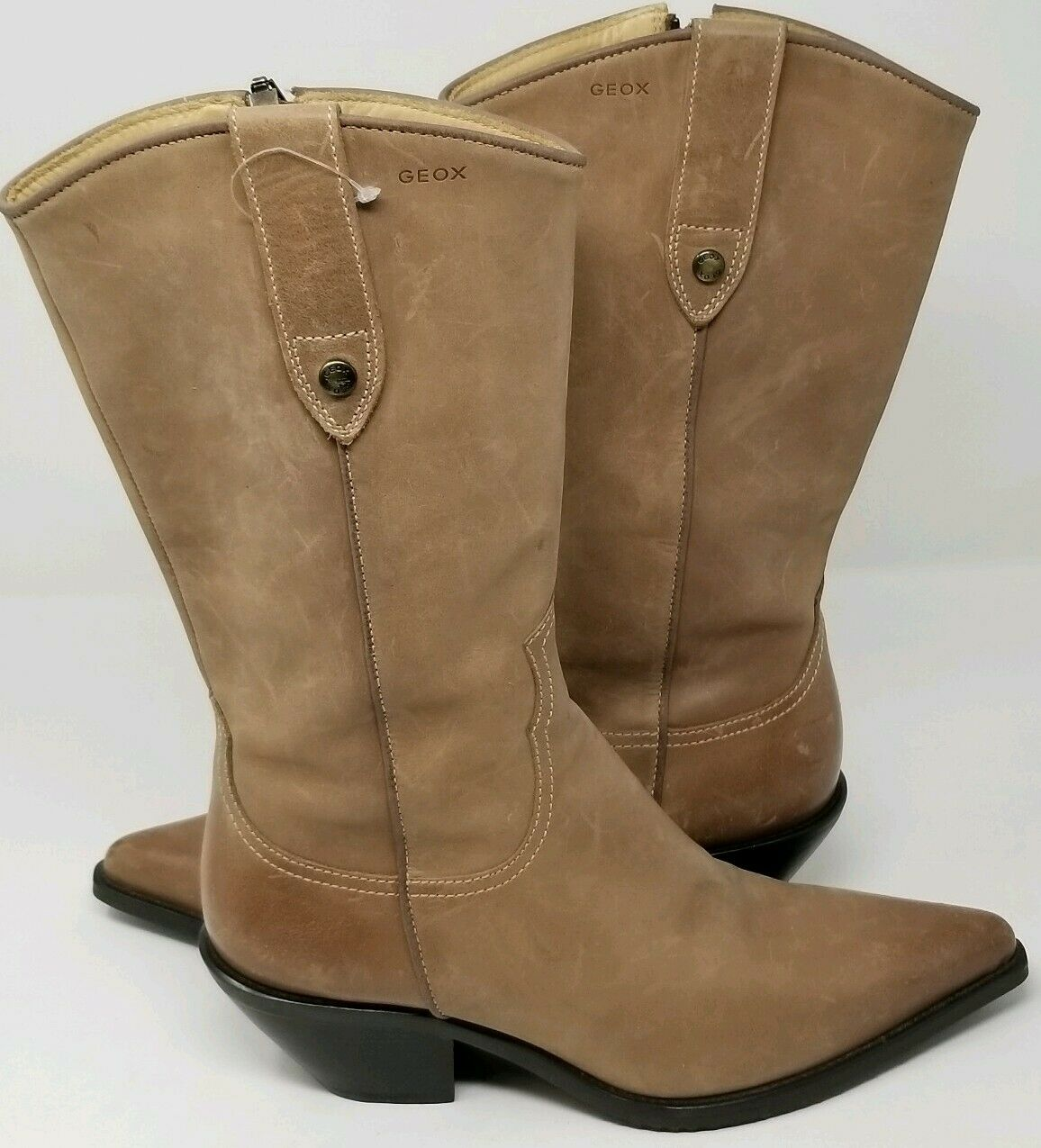 Geox Respira Womens Western Style Boots - Tan 37