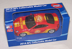 Gold-Coast-Suns-2014-AFL-Collectable-Toyota-86-Coupe-Model-Car-New