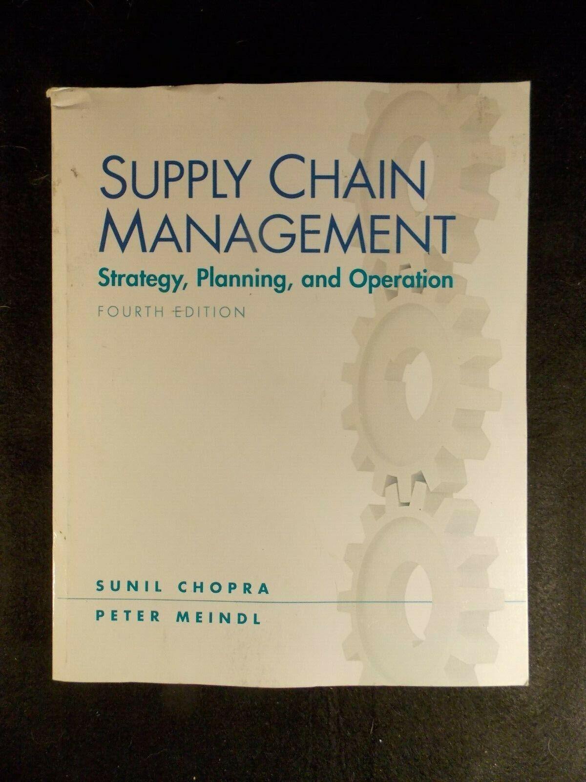 supply chain drivers and metrics chopra