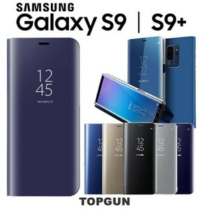 COVER-CUSTODIA-SMART-CLEAR-VIEW-FLIP-Per-Samsung-Galaxy-S9-S9-PLUS-Standing