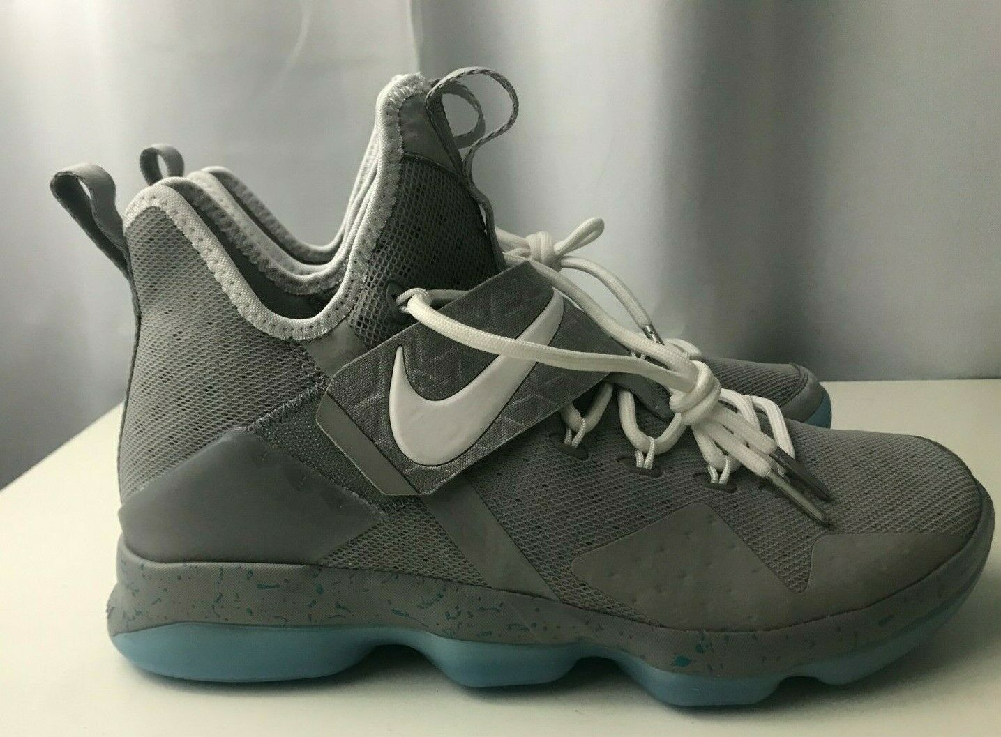 Nike LeBron 14 XIV Mag McFly Basketball shoes Men's 9.5 Grey Sneakers 852405-005