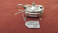 A Superb Solid Silver Vintage Mustard Pot by Walker & Hall HM Birmingham 1961