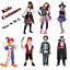Kids-costumes-Princess-Witch-Kids-Clown-Pirate-Skeleton-Vampire-Boys-Girls thumbnail 1